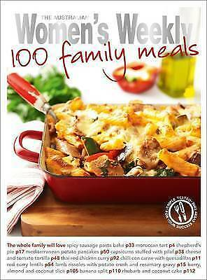 """1 of 1 -  THE AUSTRALIAN WOMEN'S WEEKLY """"100 FAMILY MEALS"""" COOKBOOK"""