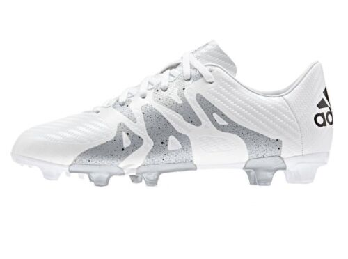 White Boys Junior Adidas Football Soccer Boots Shoes Moulded Firm Artificial