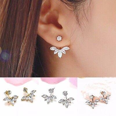 1 Pair New Fashion Women Elegant Crystal Rhinestone Ear Stud Earrings jewelry