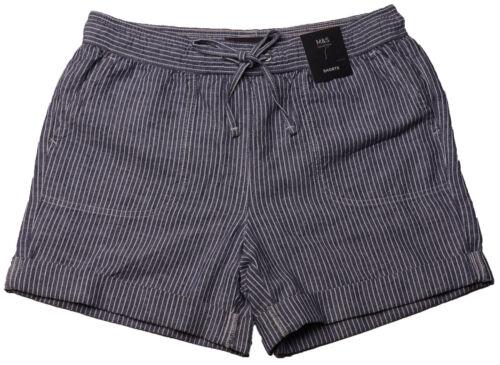 Nouveau Haut Marks /& Spencer Bleu /& blanc en lin short taille 20 18 16 14 10