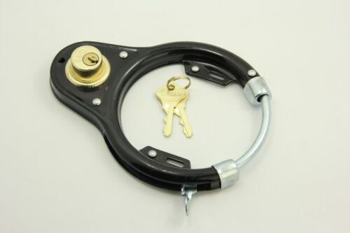 Bike Bicycle Lock Pad Lock Circular Lock Wheel Lock Black Vintage Style Iron