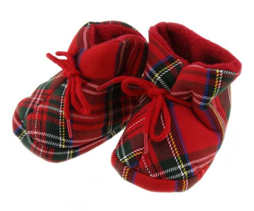 Scottish Authentic Royal Stewart Tartan Baby Bootees By Glen Appin of Scotland
