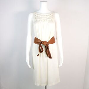 STRENESSE Kleid Gr. DE 34 XS weiss Gürtel Damen Dress Robe ...