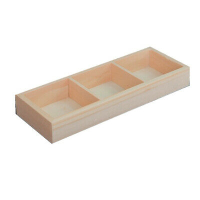 Multi Grid Wooden Flower Pot Bonsai Planter Box Storage Holder Organizer Mgic