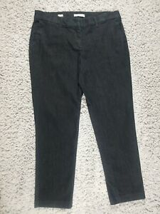 Liz-Claiborne-Dark-Blue-Jeans-Womens-Size-14-Emma-Fit-Stretchy-1-Spandex