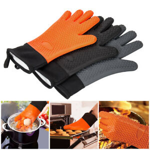 Resistant-Silicone-Gloves-Kitchen-Gloves-Heat-BBQ-Oven-Cooking-Mitts-barbecue