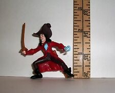 WALT DISNEY MINIATURE CAPTAIN HOOK PLAY FIGURE 2 & 1/2 INCHES TALL DOLL SIZE