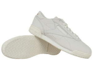 size 40 57346 592c5 Details about Womens Reebok Classic ExoFit Low CLN FTB Suede Trainers  Leather White Sneakers