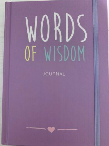 Words of Wisdom Journal Notebook Motivational Messages Notes Hardback Gift