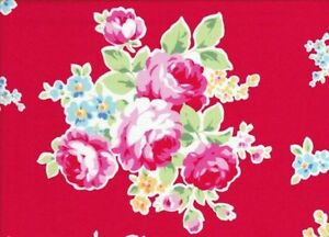 Cottage-Shabby-Chic-Lecien-Flower-Sugar-Med-Bouquet-30968L-30-Floral-Fabric-BTY