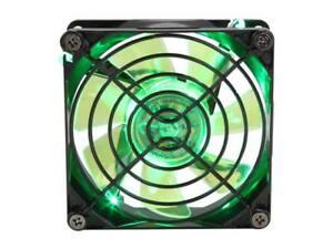 APEVIA CF8SL-BGN 80mm Green LED Case Fan w/Grill