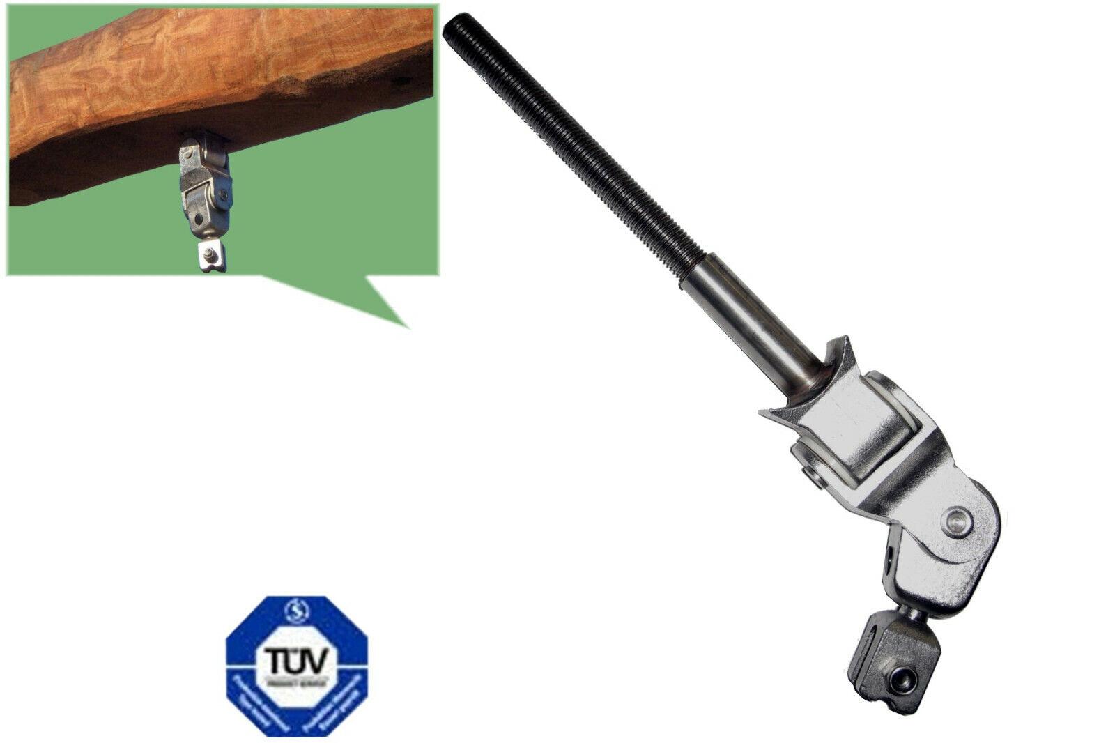 Swing Joint Cross Joint Voll-Edelstahl Swing Hooks Bolt 140mm M16 EN1176