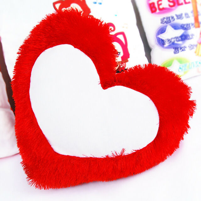 DIY Printing Heart Shape Pillow Case Throw Cushion Pillow Cover Home Car Decor