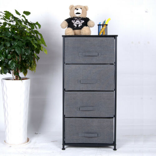 Polar Aurora 4-Drawer Dresser Storage Closet Shelves Sturdy Frame with Removable