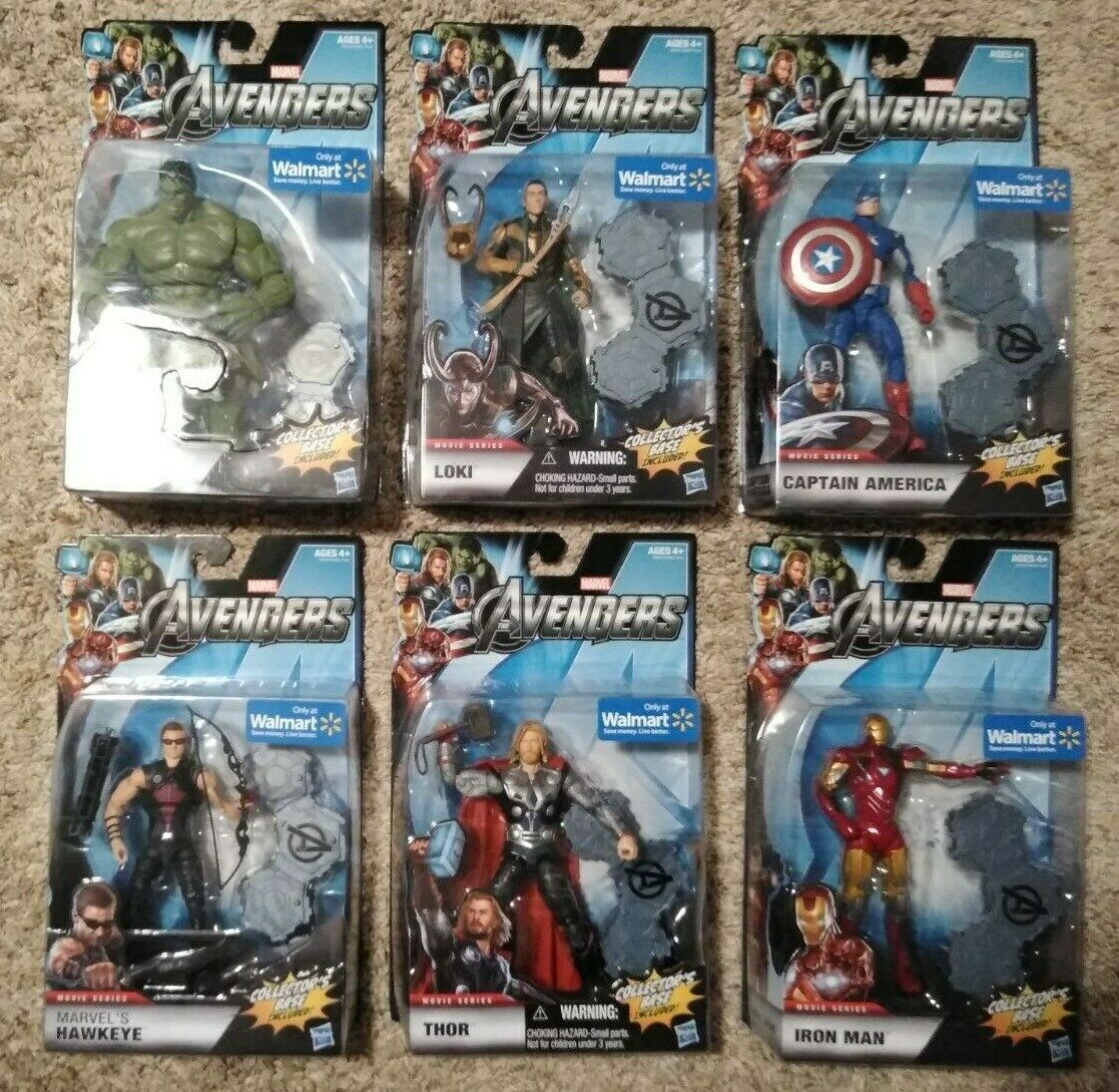 Marvel Legends 6  Avengers Movie 2012 Walmart Exclusive figure set Loki Hulk NEW