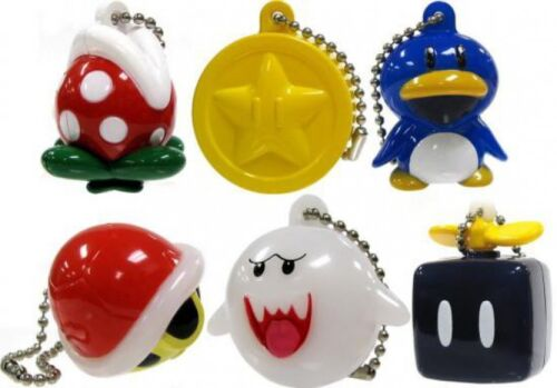 New Super Mario Bros Wii Light Up Collection 2 Lot de 6 Keychains