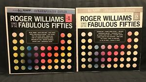 Roger-Williams-Vinyl-Records-2X-LP-Music-Record-Fabulous-Fifties-12-039-Album-Retro
