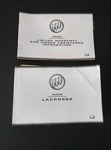 LACROSSE 2008 OWNERS MANUAL BUICK OWNER/'S BOOK