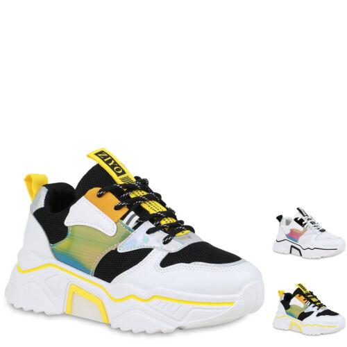 Damen Plateau Sneaker Turnschuhe Schnürer Chunky Freizeitschuhe 898935 Hot