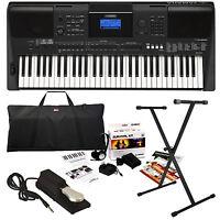Yamaha Psr-e453 Portable Keyboard Stage Essentials Bundle on sale
