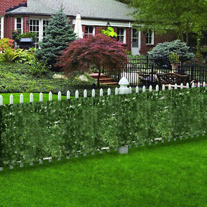 artificial faux ivy leaf privacy fence screen décor panels cover