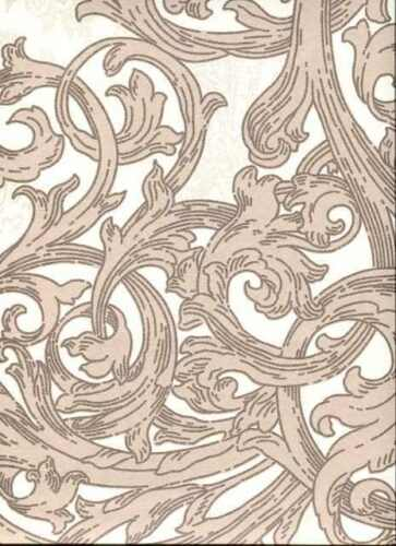 beige Metallic Floral Effect Paste the Wall Feature Wallpaper IC16503 Cream