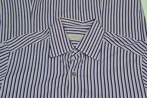 Ermenegildo-Zegna-Current-Blue-Pink-Striped-Cotton-Button-Up-Shirt-Sz-M