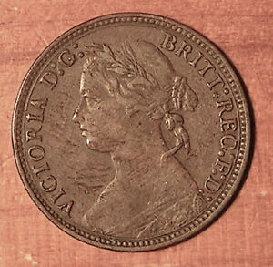 Great-Britain-1879-One-Farthing-Bronze-2-8-gr-20-mm-KM-753