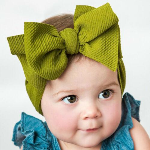 Newborn Toddler Kid Baby Girl Turban Headband Flexible Headwear Accessories Gift