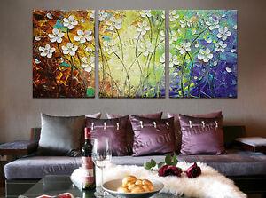 Quadri moderni astratti dipinti a mano olio su tela 3 for Fiori dipinti a olio