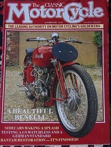 Details about Classic Motorcycle Oct 1988 Matchless G9, Bsa Bantam  restoration 4, Benelli 350