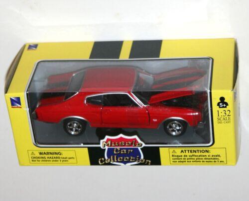NEWRAY - Chevrolet Modèle Échelle 1:32 1970 Chevy Chevelle SS rouge