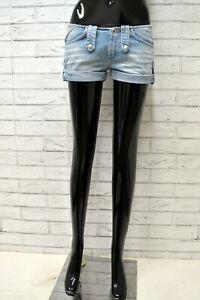 Pantaloncino-REPLAY-Donna-Taglia-26-Pantalone-Corto-Shorts-Bermuda-Cotone-Blu