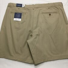 Silver Birch, 40 Mens Classic Fit Easy Care Stretch Flex Waist Flat Front Shorts