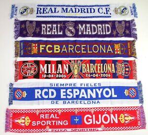 REAL-MADRID-SCIARPA-Espanyol-Barcellona-Budapest-Milano-vintage-con-foulard-bufanda