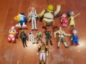 Lot of 13  Mixed Action Figures Disney Power Rangers Shrek