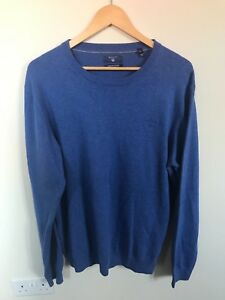 Maglia Cotton Pull Uk media manica Medium Ex Gant maglia Con blu Xl taglia 04dqwF0