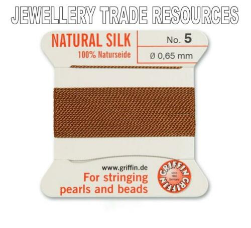 CORNELIAN SILK STRING THREAD 0.65mm FOR STRINGING PEARLS /& BEADS GRIFFIN SIZE 5