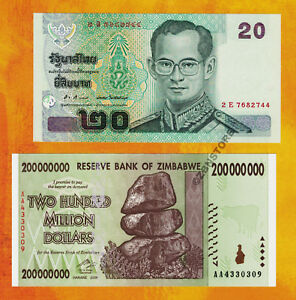 Image Is Loading 200 Million Zimbabwe Dollars Aa 2008 20 Thailand