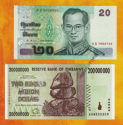 Dollars Aa 2008 20 Thailand Baht Thai