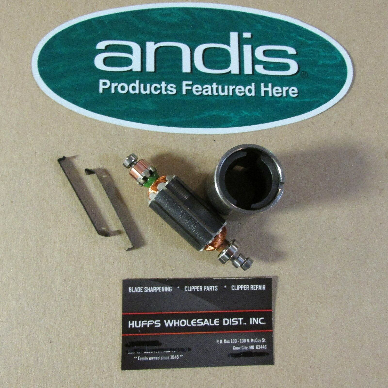 Andis Clipper Parts Armature and Field Coil & 2Clips Fits all AGC Ultra and AG