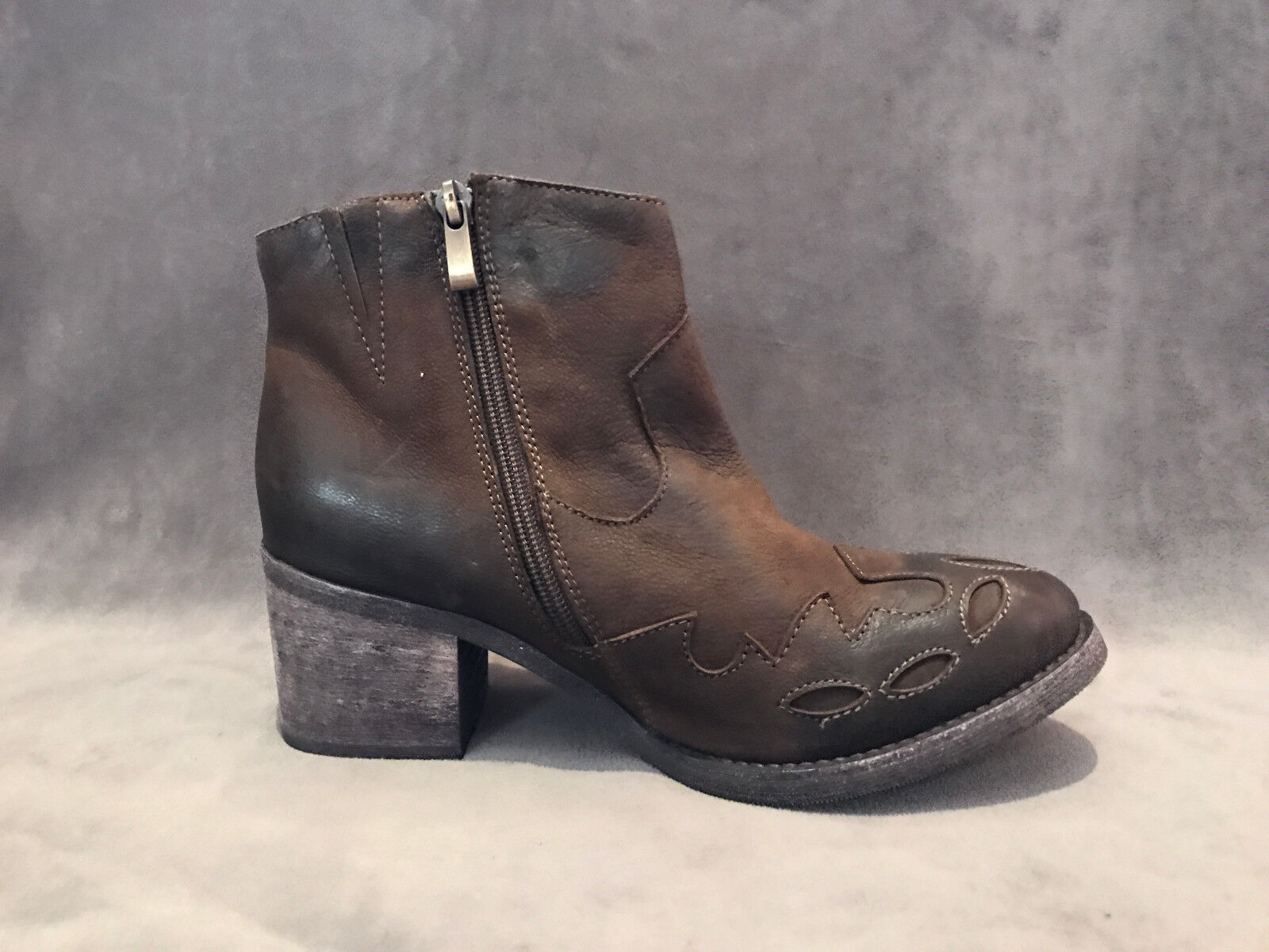 NEW BOOTIES ANTHROPOLOGIE ANTELOPE BROWN COWBOY BOOTIES NEW Stiefel Schuhe SZ 37 94eef4