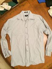 Clavin Klein Mens Button Front Pocket Shirt Adult Medium Long Sleeve Gray EUC