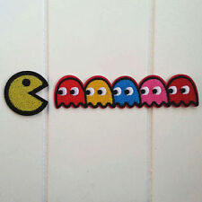 Pacman Vintage Chomp Chomp Blinky Inky Pinky Iron ON Patch