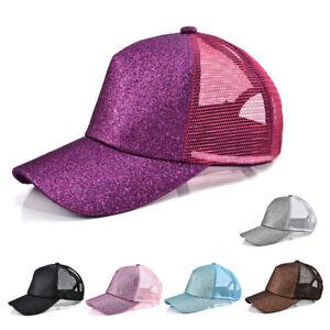 3a9efc5f3af00 1pc Ponytail Baseball Cap Women Messy Bun Baseball Hat Snapback Sun ...