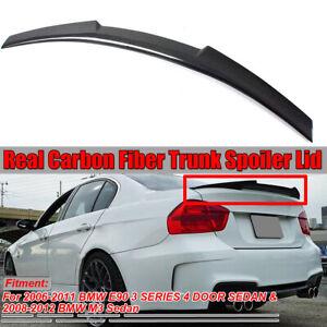 Carbonio-Fibra-Tronco-Coperchio-Spoiler-Wing-M4-Stile-Per-BMW-E90-Serie-Serie-Sa