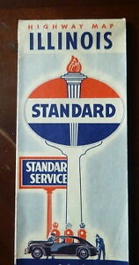 1948-Illinois-road-map-Standard-oil-Indiana-gas-route-66