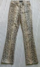 Womens Guess Jeans Leopard Animal Print Pants Size 26 GUESS
