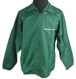 Vintage Zip Memorial Man L pluie de Manteau Green 80 années Torneo qPO8a4wnHT