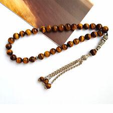 8mm Tiger Eye's Stone 33 Prayer beads Islamic Muslim Tasbih Rosary Misbaha bead